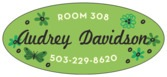 Butterfly oval labels
