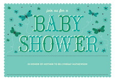 baby shower invitations - aruba - butterfly (set of 10)