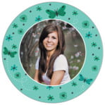 Butterfly circle photo labels