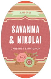 Bella Banded tall oval labels