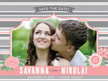 custom save-the-date cards - grapefruit - bella banded (set of 10)