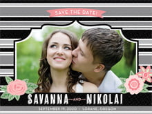 custom save-the-date cards - tuxedo - bella banded (set of 10)