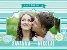 custom save-the-date cards - aruba - bella banded (set of 10)