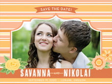 custom save-the-date cards - tangerine - bella banded (set of 10)