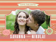 custom save-the-date cards - spice - bella banded (set of 10)