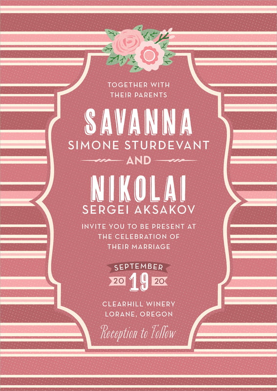 custom invitations - marsala - bella banded (set of 10)