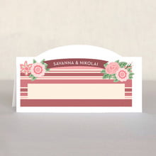 Bella Banded Place Card In Marsala