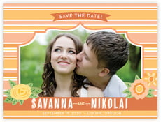 Bella Banded save the date cards
