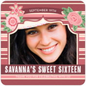 Bella Banded sweet sixteen coasters