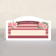 Bella Banded sweet sixteen place cards