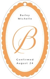Bella large oval hang tags