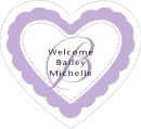 Bella heart labels