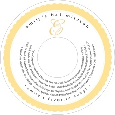 Bella Cd Label In Sunburst