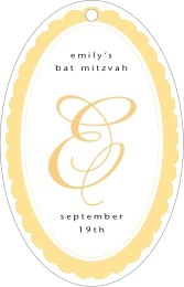 Bella bar/bat mitzvah tags