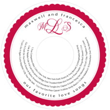 Bella valentine's day CD/DVD labels