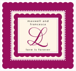 Bella large rectangle labels