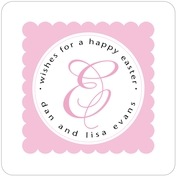 Bella Square Coaster In Pale Pink