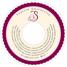 Bella graduation CD/DVD labels