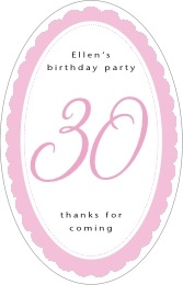 Bella tall oval labels