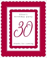 Bella birthday wine labels