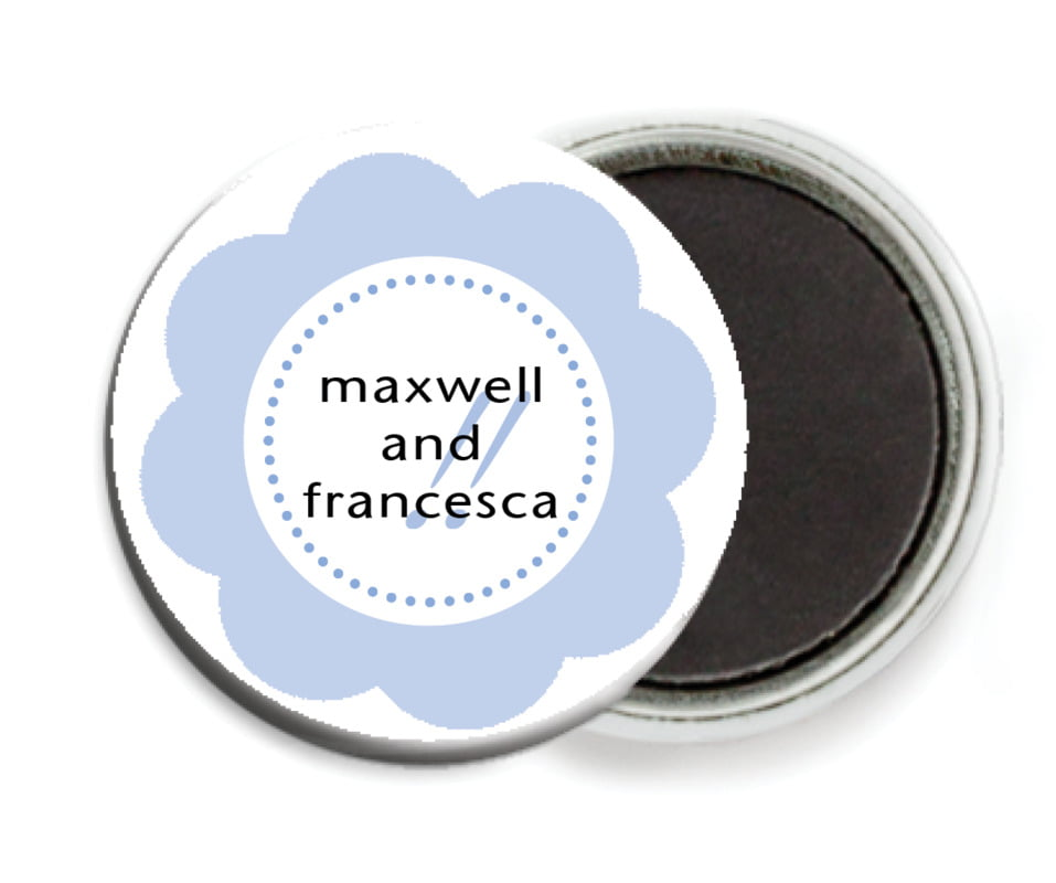custom button magnets - periwinkle - bella (set of 6)
