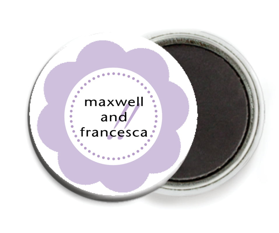 custom button magnets - lilac - bella (set of 6)