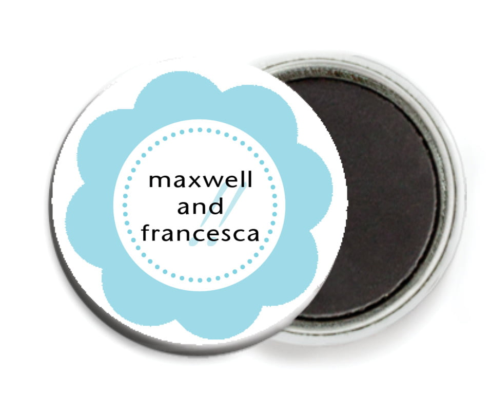 custom button magnets - bahama blue - bella (set of 6)