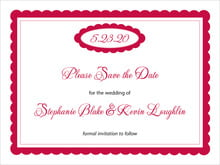 custom save-the-date cards - deep red - bella (set of 10)