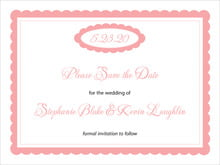 custom save-the-date cards - grapefruit - bella (set of 10)