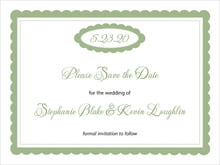 custom save-the-date cards - sage - bella (set of 10)