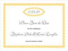 custom save-the-date cards - sunburst - bella (set of 10)
