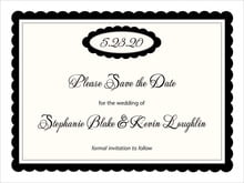 custom save-the-date cards - tuxedo - bella (set of 10)