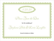 custom save-the-date cards - green tea - bella (set of 10)