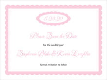 custom save-the-date cards - pale pink - bella (set of 10)