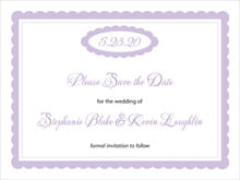 custom save-the-date cards - lilac - bella (set of 10)