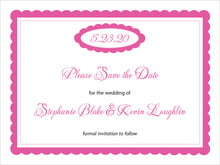 custom save-the-date cards - bright pink - bella (set of 10)