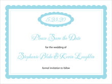 custom save-the-date cards - bahama blue - bella (set of 10)