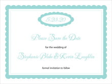 custom save-the-date cards - aruba - bella (set of 10)