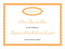 custom save-the-date cards - tangerine - bella (set of 10)