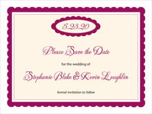 custom save-the-date cards - burgundy - bella (set of 10)