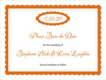 custom save-the-date cards - spice - bella (set of 10)