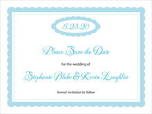 custom save-the-date cards - sky - bella (set of 10)