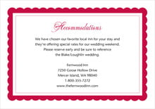 custom enclosure cards - deep red - bella (set of 10)