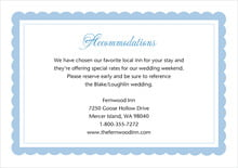 custom enclosure cards - blue - bella (set of 10)