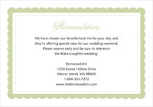 custom enclosure cards - green tea - bella (set of 10)