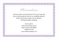 custom enclosure cards - lilac - bella (set of 10)