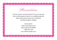 custom enclosure cards - bright pink - bella (set of 10)