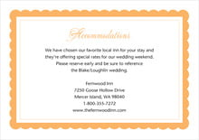 custom enclosure cards - tangerine - bella (set of 10)