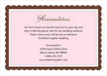 custom enclosure cards - cocoa & pink - bella (set of 10)