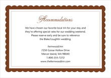 custom enclosure cards - chocolate - bella (set of 10)
